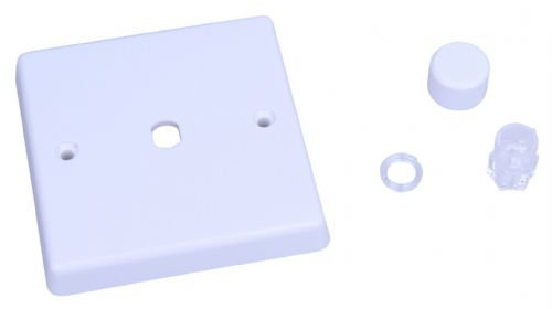 Varilight WQ1W White Plastic 1 Gang Dimmer Plate Only + Knobs
